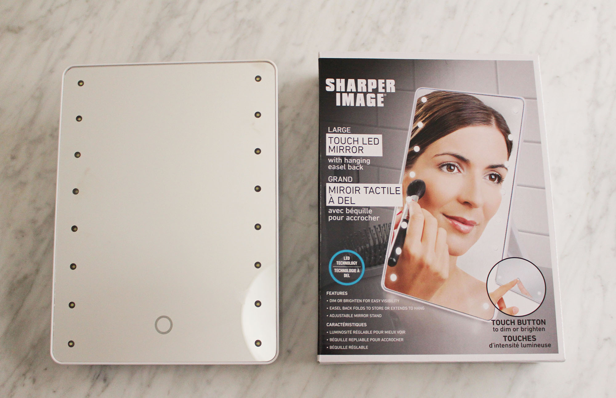 Sharper Image Makeup Mirror.Product Review Sharper Image Large Touch Led Mirror